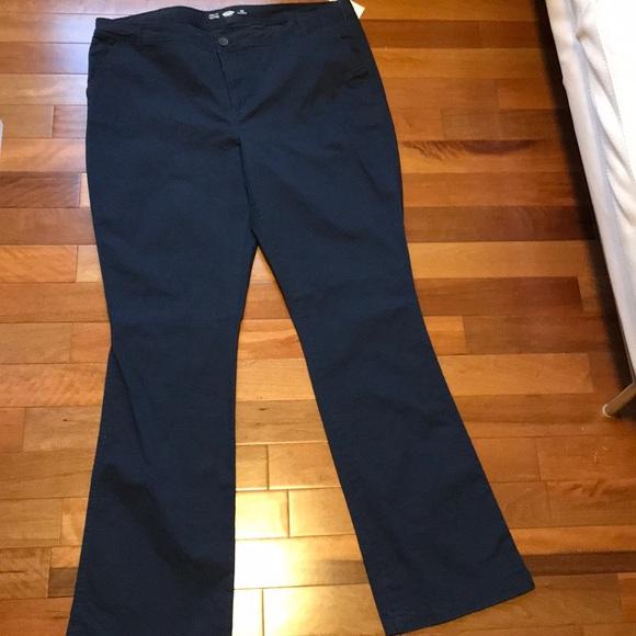 Women s Old Navy Blue Pants Uniform Work School eaa51139f3